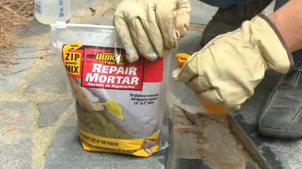 Zip Amp Mix Instant Mortar Repair From Quikrete