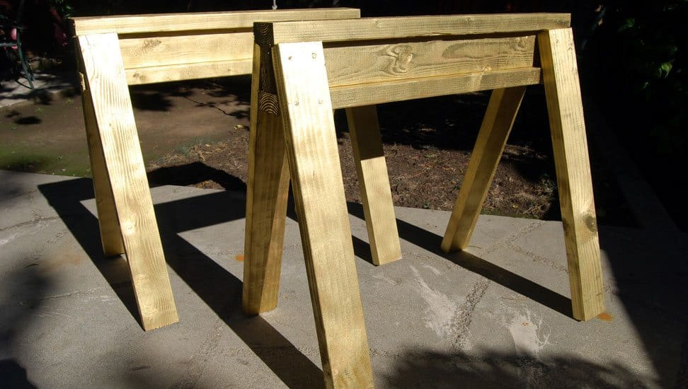 How To Build Diy Sawhorses