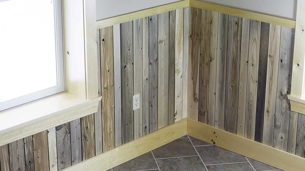 Reclaimed Wainscoting From Maine Heritage Timber
