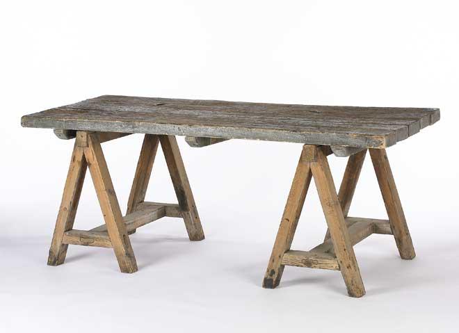 Saw Horse Table Idea