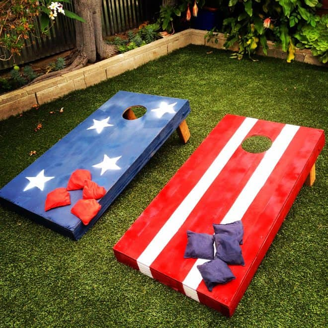 Stars and Stripes Bean Bag Toss Boards