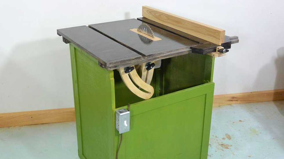 homemade table saw featured