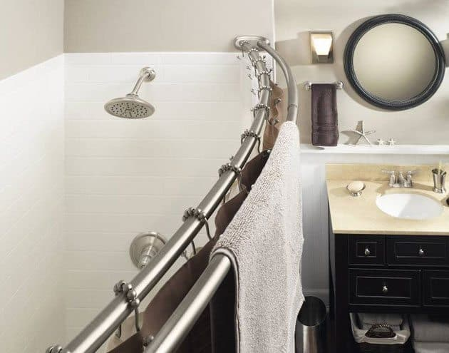 Upgrade Your Bathroom With A Curved Shower Rod