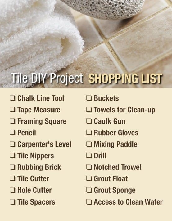 TEC tile project checklist