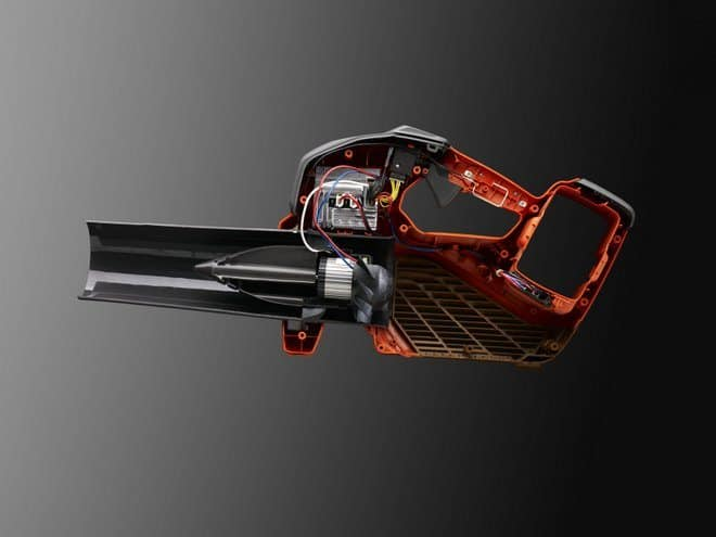 Cut through perspective on Husqvarnas new professional battery blower 536LiB