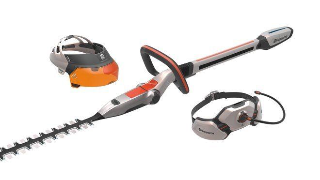 Design concept Husqvarna Ramus hedge trimmer visor and hip belt battery