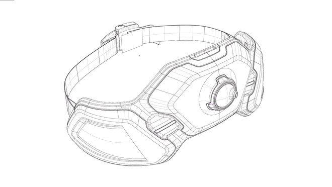 Design concept Husqvarna Ramus sketch of hip belt battery