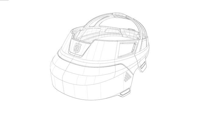 Design concept Husqvarna Ramus sketch of visor