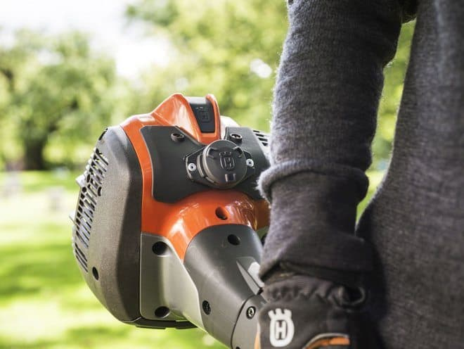Husqvarna Fleet Services - machine sensor on trimmer