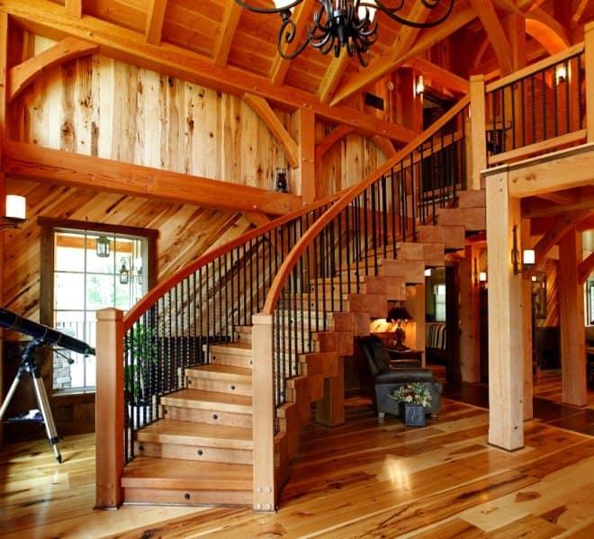 timber frame home 12