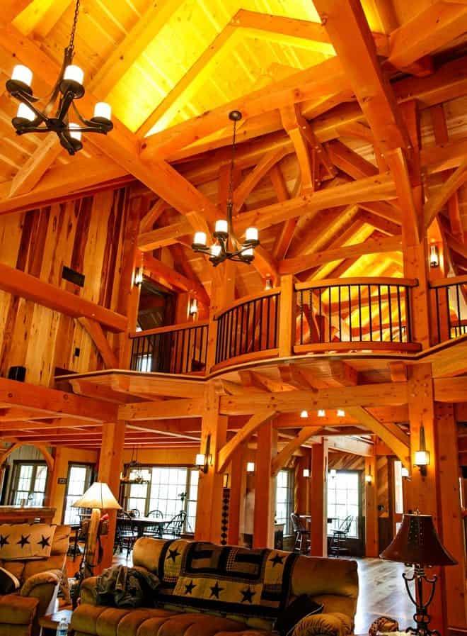 timber frame home 13