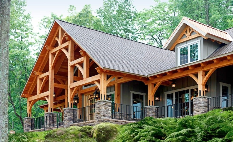 Timber frame home construction for House building contractors