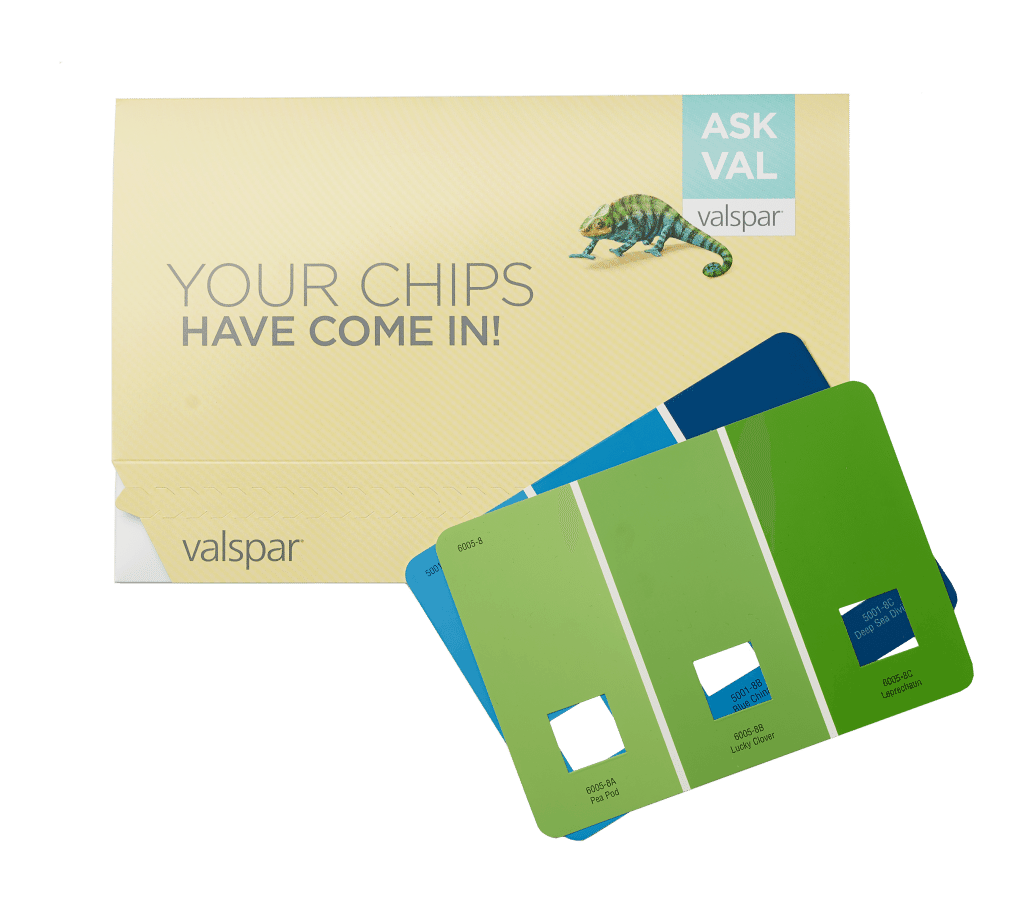 askval paint chip mailer
