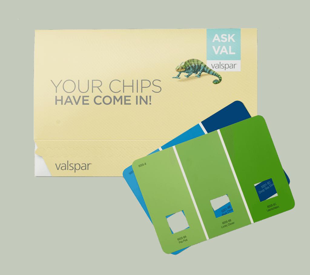 askval paint chip mailer