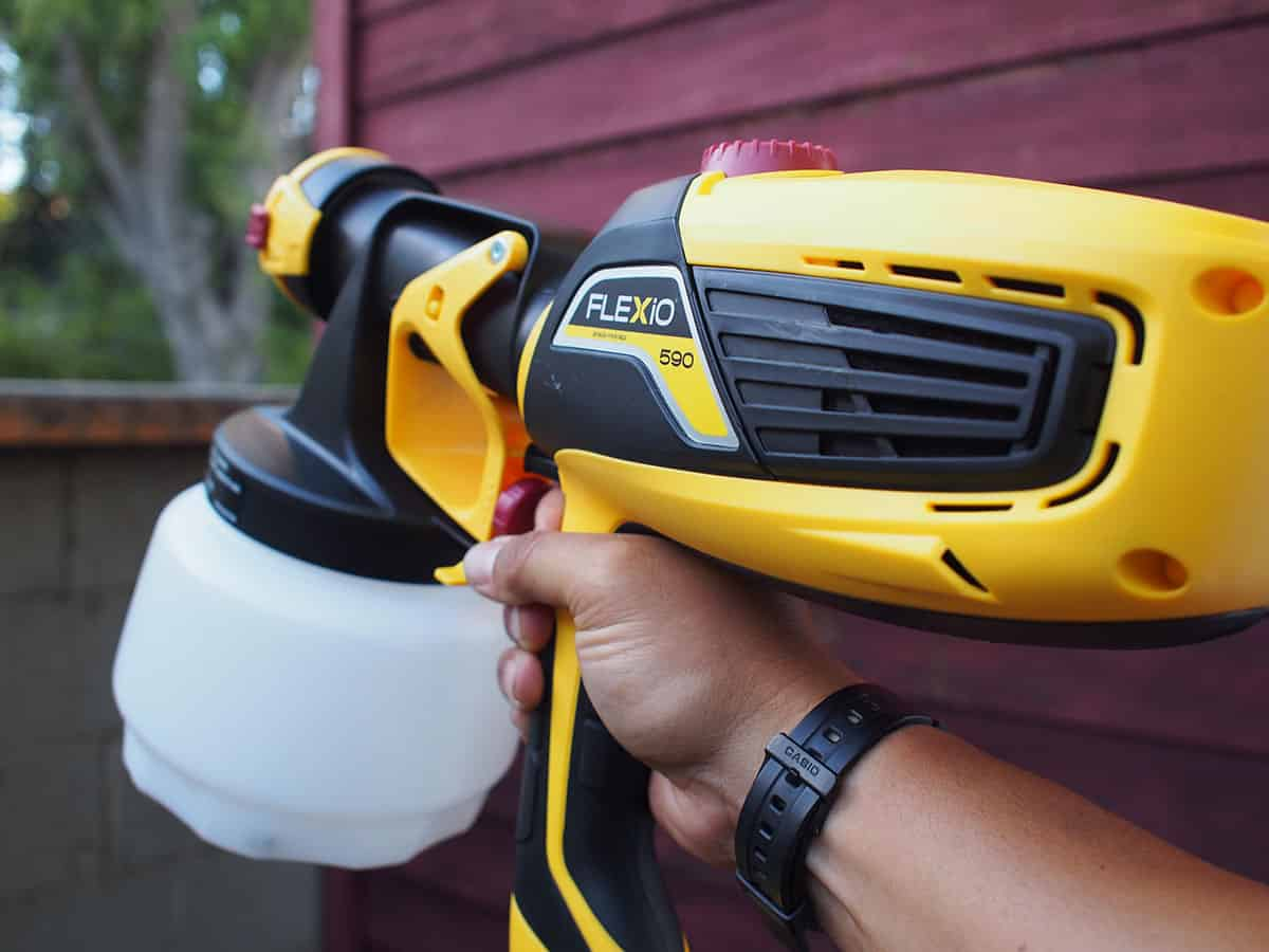 Use A Paint Sprayer To Quickly Refresh A Tired Looking Shed