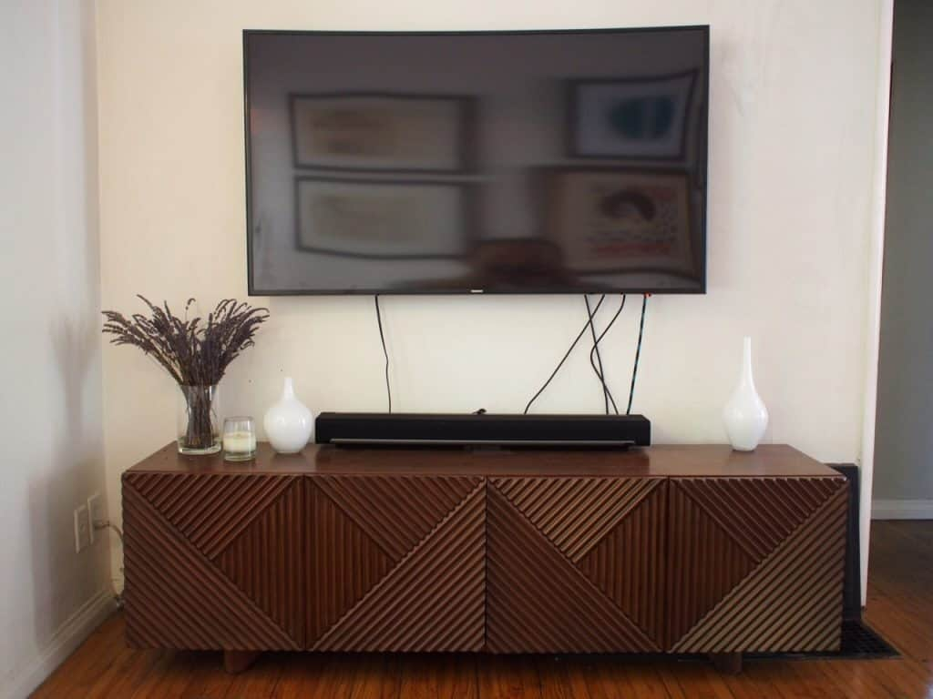 how to hide tv cords and cables. Black Bedroom Furniture Sets. Home Design Ideas