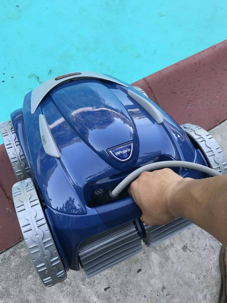 Polaris 9650iq sport robotic pool cleaner review for Pool cleaner reviews 2013