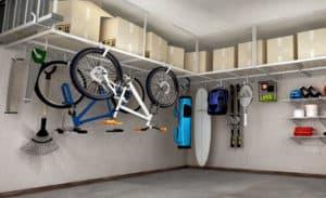 overhead garage shelving