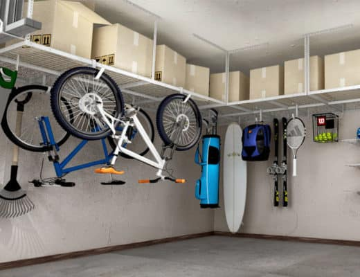 overhead garage shelving