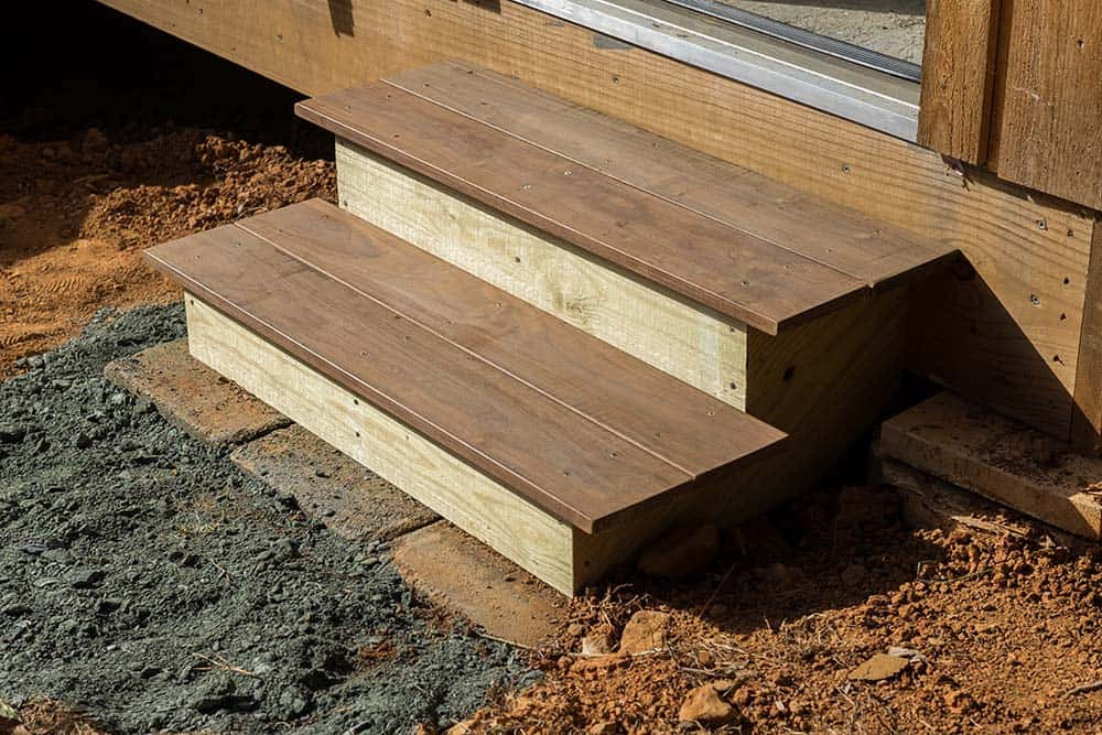How to build steps using ipe decking for Steps to building a new home