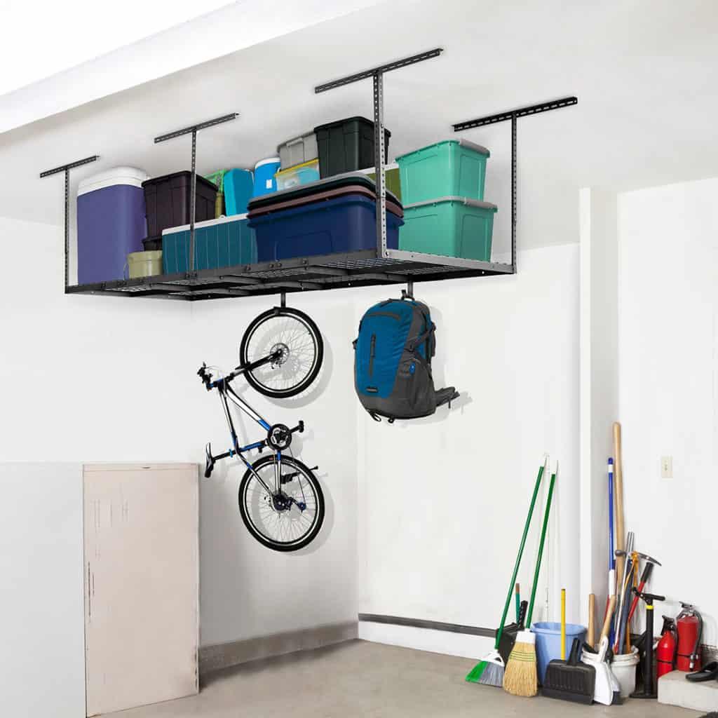 Diy Overhead Garage Shelf: How To Install Overhead Garage Shelving