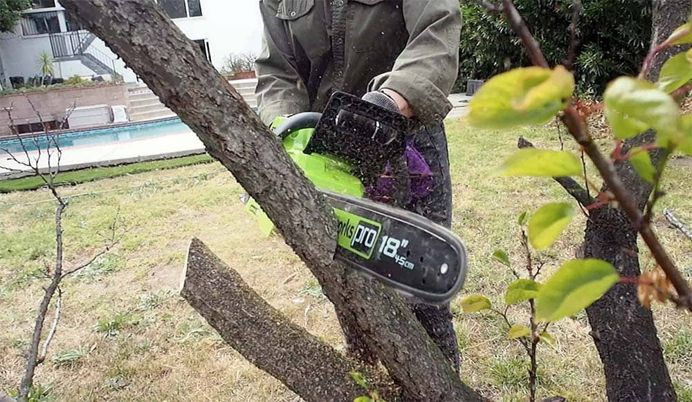 chainsaw-cutting