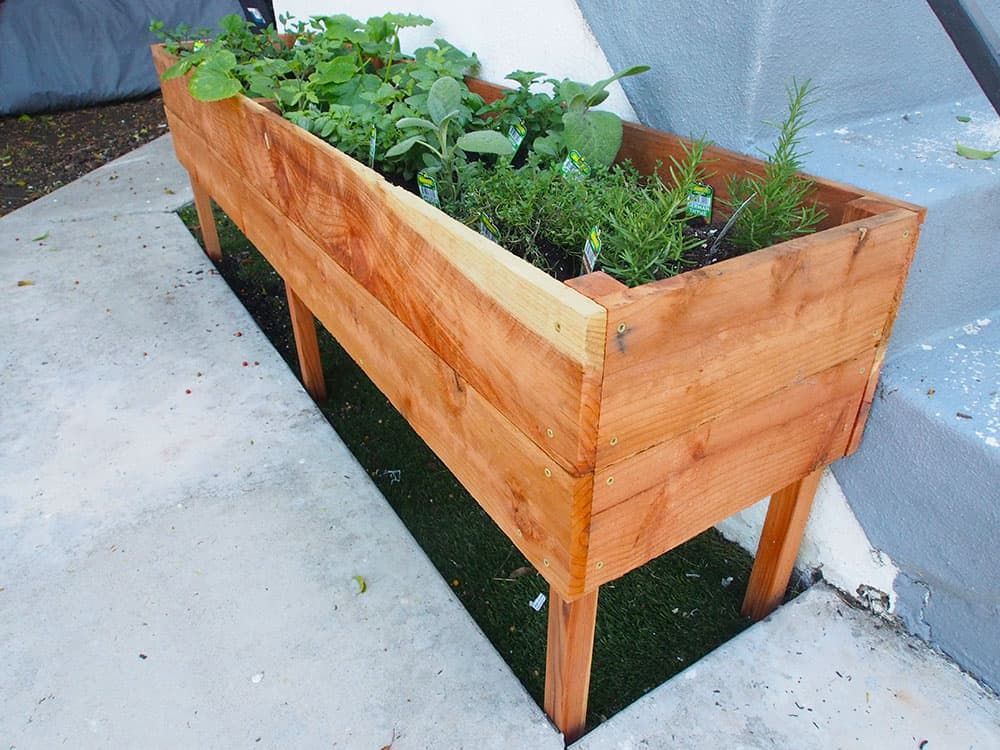 Raised Planter Box For Your Herb Garden, How To Make A Raised Herb Garden