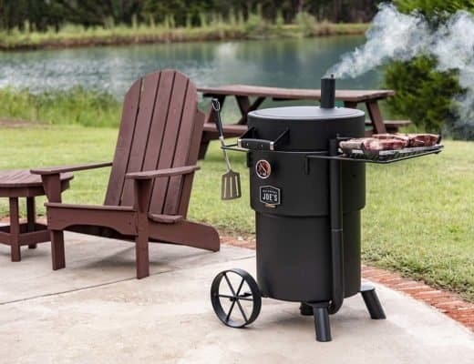 oklahoma Joe's bronco drum smoker charcoal