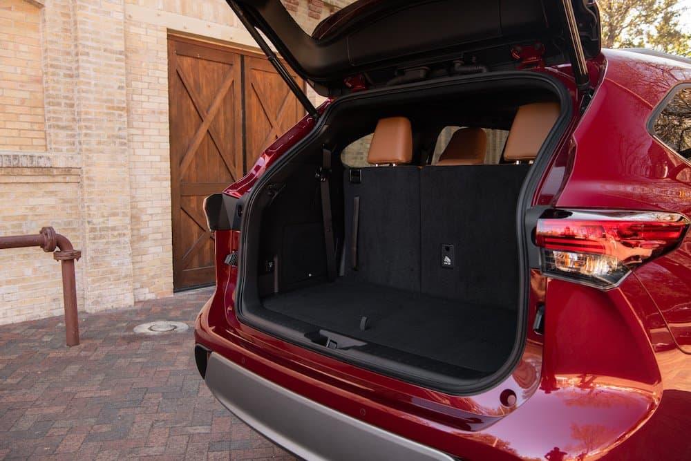 2020 Toyota Highlander Platinum Hybrid AWD Ruby Flare Pearl 074