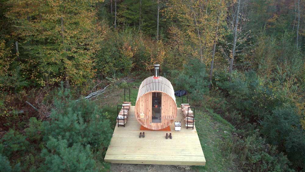 wood burning sauna