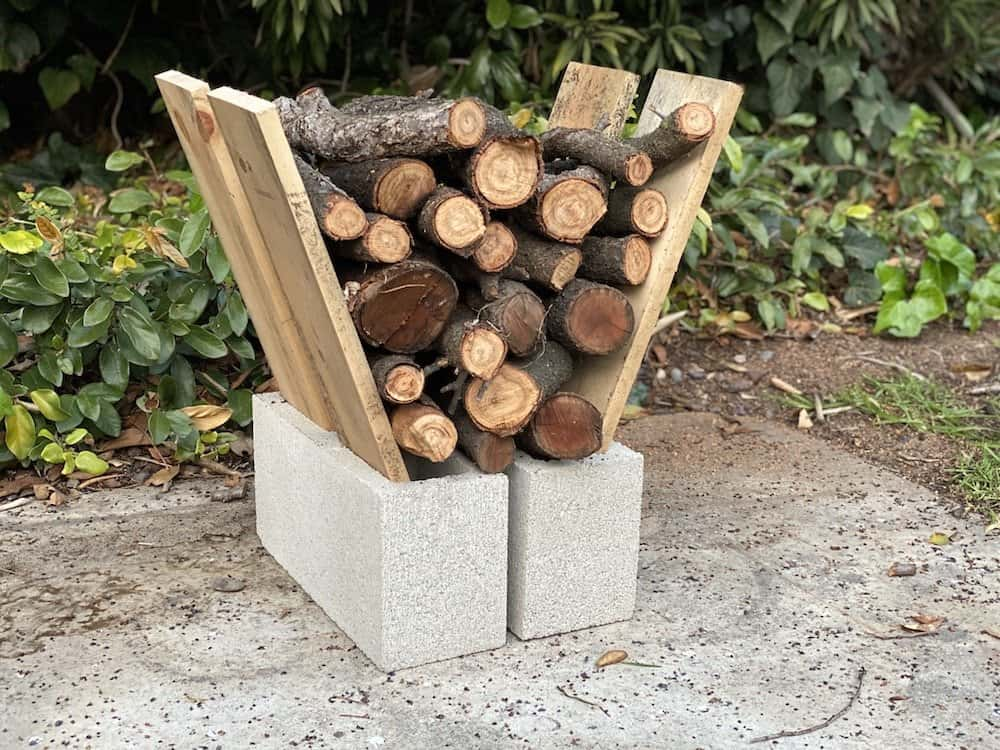 simple firewood rack