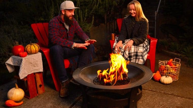 duraflame outdoor log cooking smores