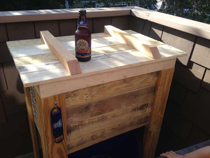 pallet cooler stand closed