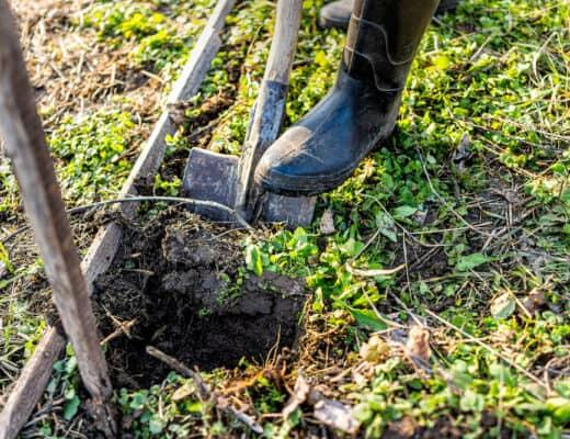 digging below frost line