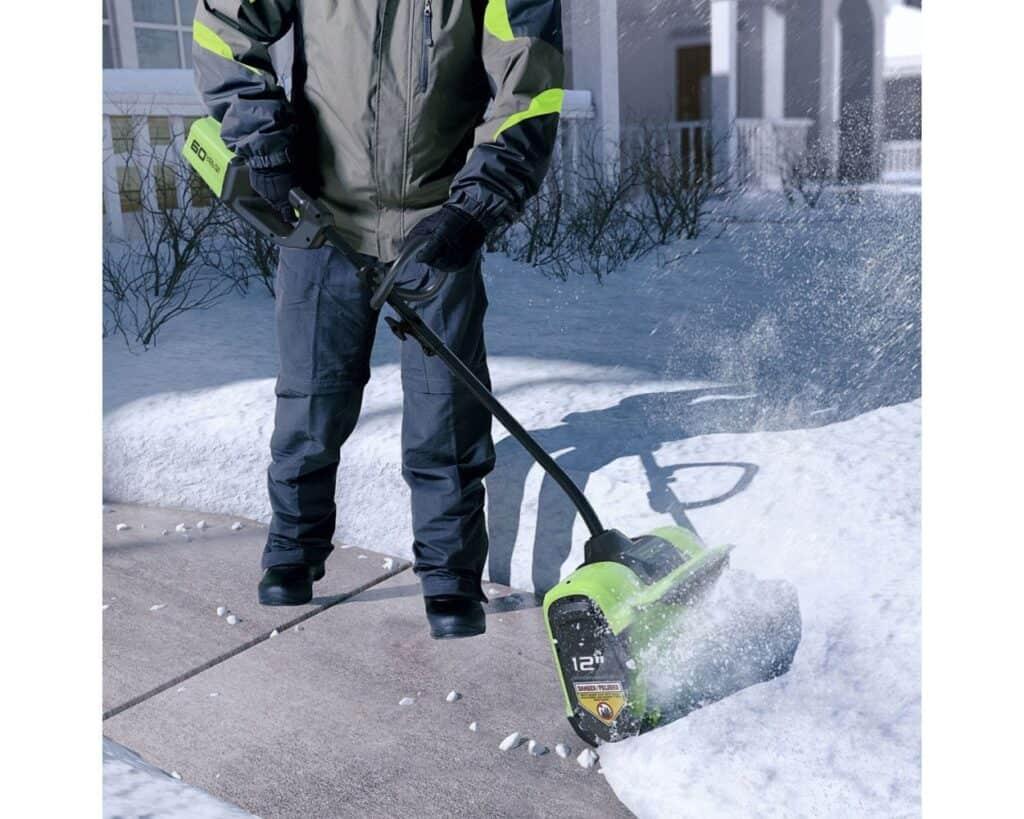 greenworks snow shovel