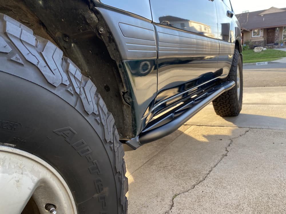 how to install rock sliders - land cruiser 100 series