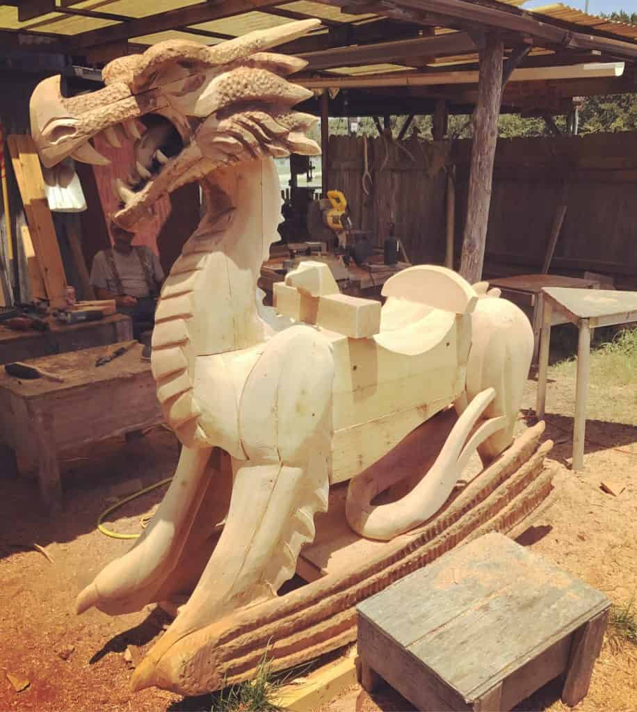 griffon ramsey chainsaw dragon carving