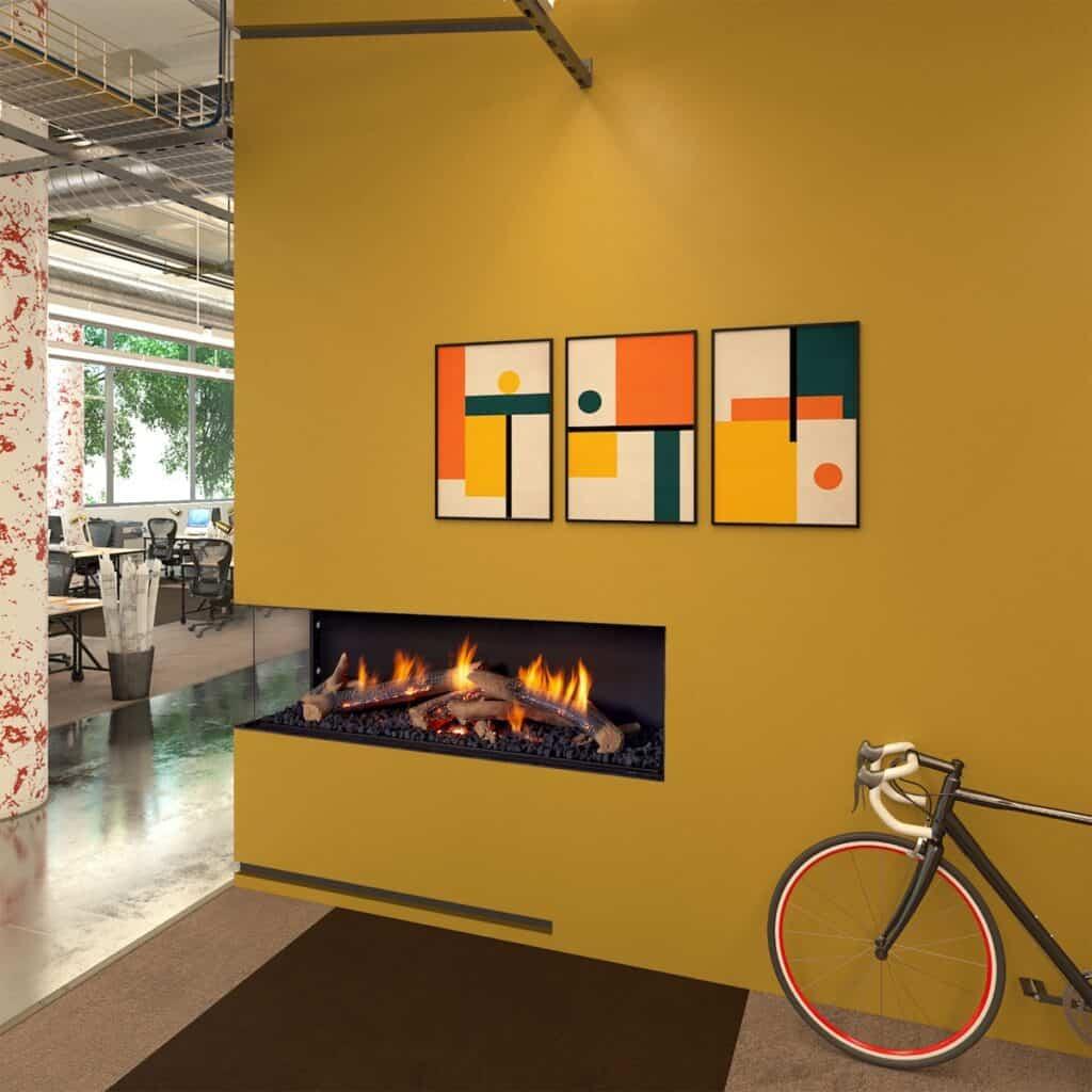 Ortal Wilderness fireplace model 60H LS Corner
