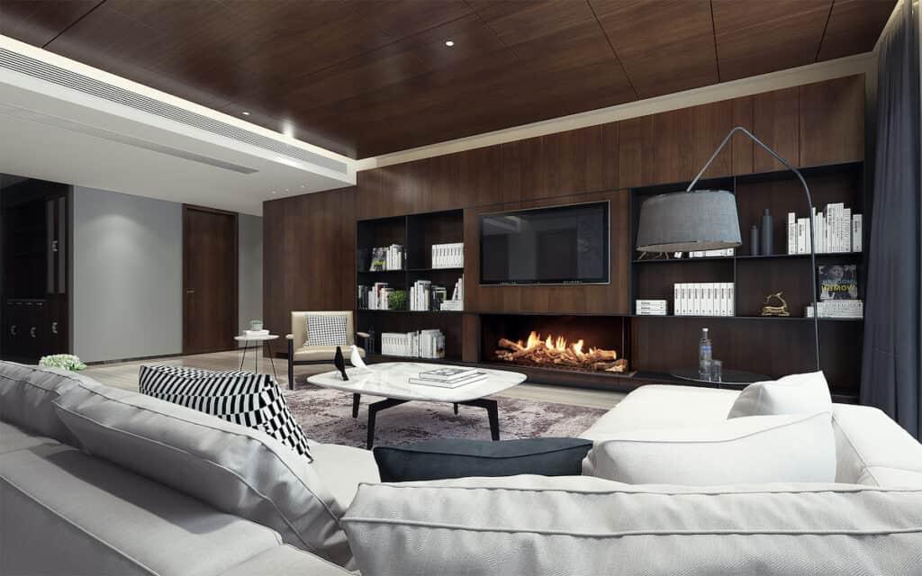 Ortal Wilderness fireplace model Corner 60H