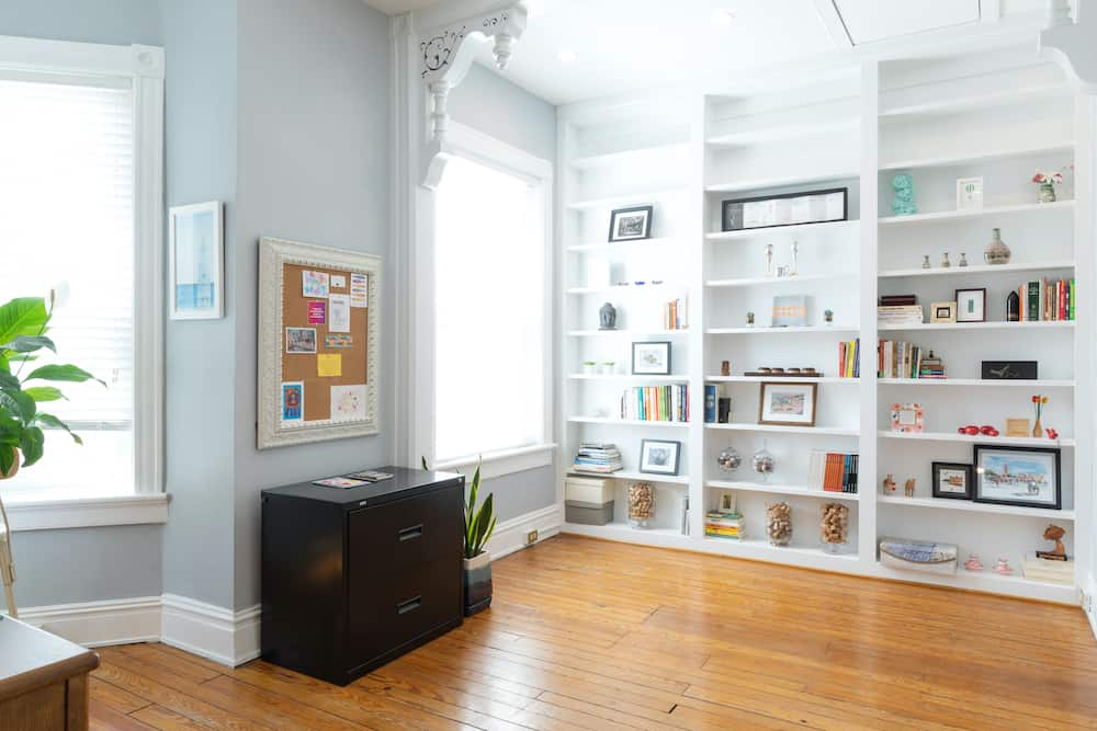 12b Second Floor office bookshelf Photo by Kim Frost